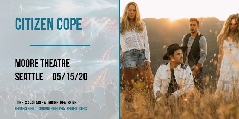 Citizen Cope [CANCELLED] at Moore Theatre