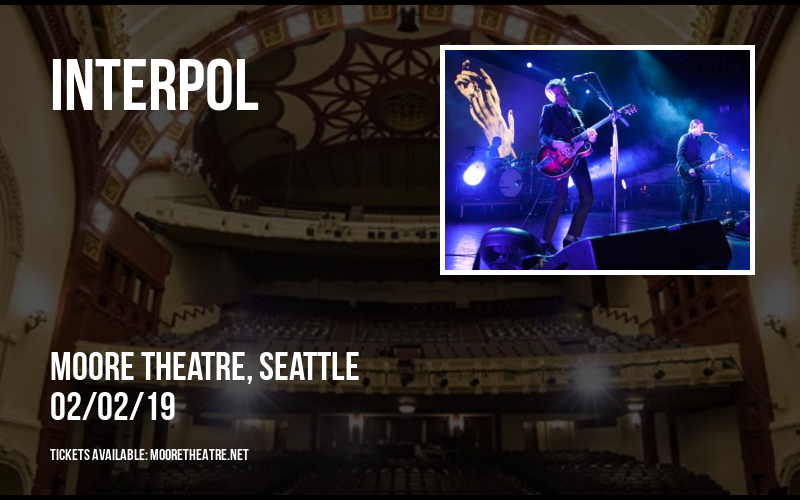 Interpol at Moore Theatre